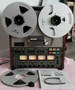 VTG TEAC A-3440 Reel To Reel 4 Channel Tape Deck Works Clean Beautiful