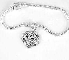 Manicurist Bracelet Nails Gift Manicure Bangle  Manicurist Present Nails charm