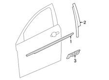 Chevrolet GM OEM 12-15 Cruze Front Door-Applique Window Trim Left 95090575