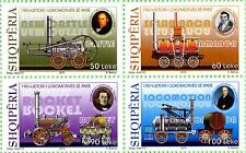 Albania Stamps 2015. 190th anniversary of the first locomotive, train. Set MNH