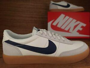 Nike Killshot 2 Leather Sail/Midnight Navy Yellow Mens Shoes Sz 10 (432997 107