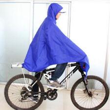 Cycling Bicycle Bike Raincoat Rain Cape Poncho Cloth Gear Rainproof Blue Awesome