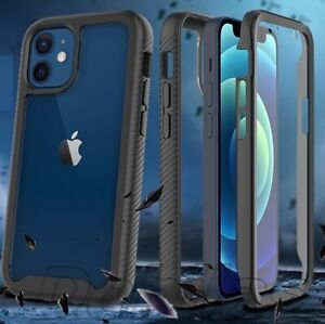 Full Body Case With Built-in Screen Protector For iPhone 12 11 8 Pro Max XS SE 2