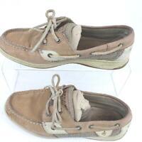 Sperry Topsider Billfish 2 Eyed Boat Shoe Linen Oat 9276619 Womens 8.5