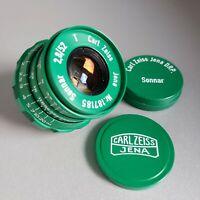 Lens SONNAR Carl Zeiss Jena DRP Sonnar 2.8/ 52mm Rangefinder M39 LEICA Green