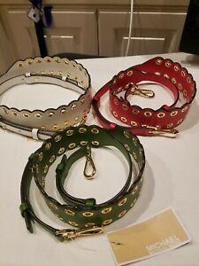 Michael Kors Scalloped Leather Handbag Shoulder Strap NWT $98