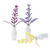 1:12 Dollhouse Miniature Potted Plants Flower Vase Furniture Decor Accessorie YK