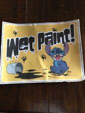 Disney Parks Stitch Wet Paint Sign