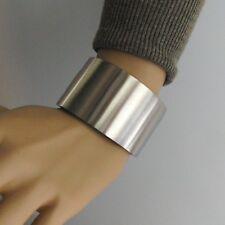 Massiver schwerer Edelstahl Armreif mit Schraubverschluß matt 40mm Gr.L