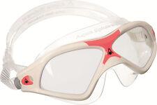 AQUA SPHERE WHITE / RED SEAL XP2 UNISEX SWIMMING MASK / GOGGLE BRAND NEW