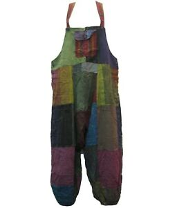 Handmade Overalls - Colourful Festival Cotton Denim Outdoor Hippy Summer Boho