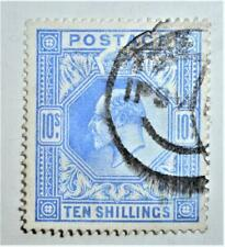 1902-10 DLR 10/- good used cancelled Ipswich part parcel H/S clear profile SG265