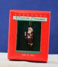 NEW 1988 Hallmark MINIATURE Ornament JOLLY ST NICK Free Shipping