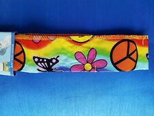 COOL DOWNZ All Day Cooling Scarf, One Size, Hippie Peace Sign
