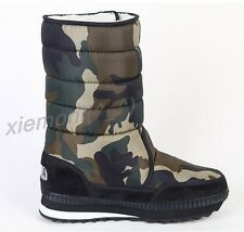 Mens Womens Lovers Waterproof Camo Warm Snow Boots Thicken Winter Shoes Plus Sz