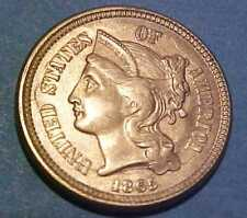 1865 3-Cent Nickel ~Nice Choice Uncirculated ~1st Year Issue ☆Make An Offer☆