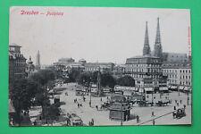 Sachsen AK Dresden 1906 Postplatz Waren Abzahlungsgeschäft Straßenbahn Hotel Str