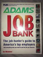 "1995 Adams Job Bank Vintage Software Windows PC - Brand New, SEALED! 3.5"" Disks"