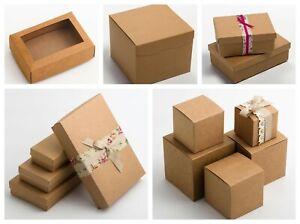 Kraft Rustic Christmas Gift Box Birthday Wedding Party Choice Sizes No Decor