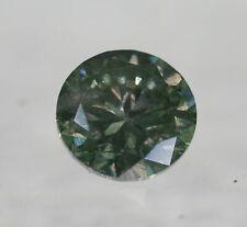 Certified Diamond 0.52 Carat Yellow Green SI2 Round Brilliant Natural #100