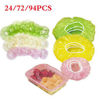 24PCS Elastic Food Covers Lids For Fruit Bowls Cups Food Cover Protection Set