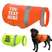 Personalized Safety Reflective Dog Vest Custom Name Print High Vis Viz Clothes