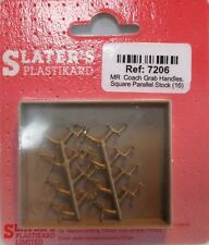 More details for slaters 7206 7mm (0) 16 x mr coach grab handles square parallel stock brass 1stp