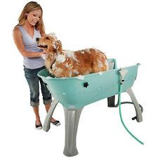 LG Elevated Pet Bath Tub Grooming Station Wash Dog Indoor Outdoor Shampoo Secure
