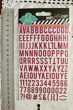 GLITTER MINI MAGENTA PINK 13mmHigh & 2-9mmWide 107 Alphabet & Numbers Upper L2L