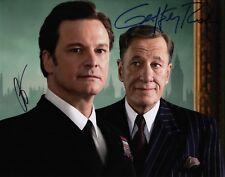 Geoffrey Rush & Colin Firth Signed The King's Speech 11x14 Photo COA