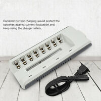 8Slots Smart Quick Charger For AA AAA Ni-MH / Ni-Cd Rechargeable Battery US Plug