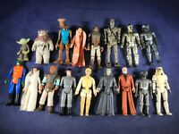 A3-58 STAR WARS ACTION FIGURES 17 FIGURE LOT - EXACT YEARS LISTED IN DESCRIPTION