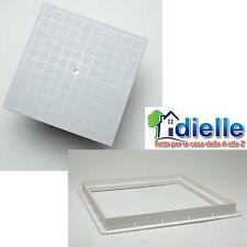 CHIUSINO POZZETTO TOMBINO PLASTICA TELAIO E COPERCHIO IN PVC 30x30 CM. DIELLE