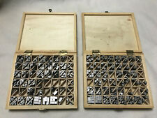 HOT FOIL STAMPING LETTERS EMBLEMS IN WOOD BOX 2 BOXES
