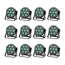 12 Pack 7LED RGBW DMX 4in1 Par Can Stage Lighting Super Bright Wedding