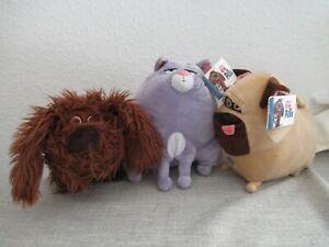 Secret Life of Pets large soft plush figure toy playset Chloe Mel Duke bundle