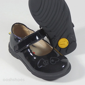 Richter Girls 0303 Black Patent Shoes UK 4 EU 20 US 4.5 RRP £38.00