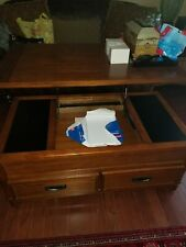 Ashley furniture coffee table and side table lift top