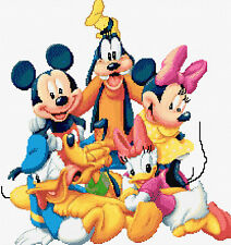 "Mickey & Friends Counted Cross Stitch Kit Disney Characters 15"" x 17"" Free P&P"
