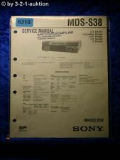 Sony Service Manual MDS S38 Mini Disc Deck  (#6310)