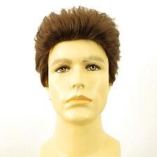 Perruque homme 100% cheveux naturel châtain clair ref XAVIER 8