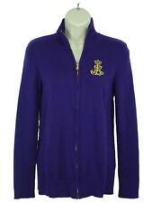 NWT Ralph Lauren Zip Up Sweater Purple Size Small  Retails$99.50