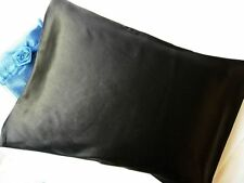 100% silk pillowcase travel 12x16 pillow case Black by Feeling Pampered