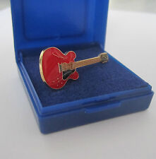 Electric Guitar Pin Badge Lapel Brooch Red 335 Music Gift Present GIFT BOXED