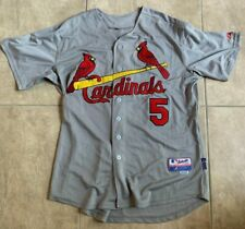 Majestic Albert Pujols 5 St. Louis Cardinals Button Down Grey Sewn Jersey 50 2XL