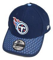 New Era 39Thirty Mens NFL Tennessee Titans Flex Flt Hat Cap New S/M