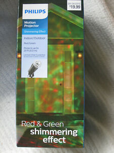 Philips LED Motion Projector Shimmering RED & GREEN indoor/outdoor light show NW
