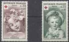 Timbres Santé Médecine Croix Rouge France 1366/7 ** lot 25259