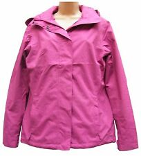 Womens Lands End Raspberry Lightweight Rain stop Waterproof Jacket Size 10/12