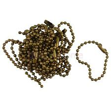 "20pcs Vintage Bronze Connector Clasp Ball Beads Chain Keychain 4"" 10cm"